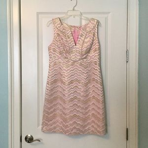Lilly Pulitzer Pink & Gold Adelia Dress - Size 10